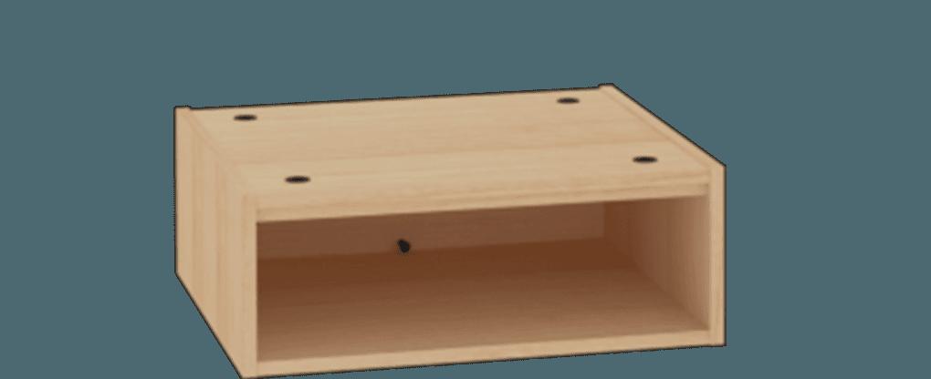Essentials Open Stacker 10In Holes In Top
