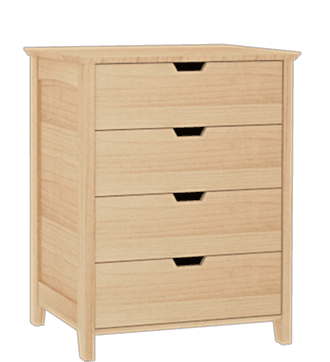 Shaker 4 Drawer Chest