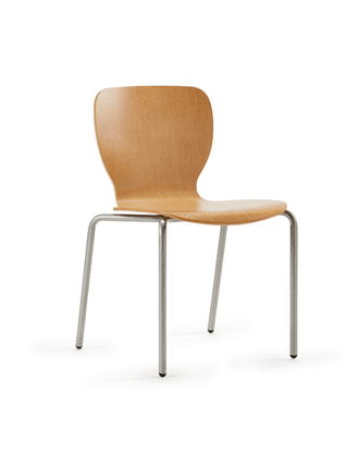 Felix Jr  Side Chair Wood Back And Seat